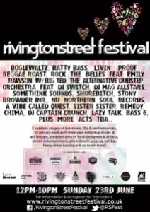 Rivington Street Festival flyer