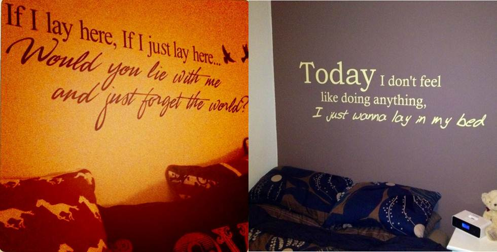 Quotes For My Bedroom Wall