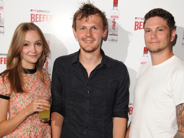 Beefeater #MyLondon Film Fest winner Jamie Sims, alongside his starring actress Charlotte Newton-John and Cinematographer Richard Dimery