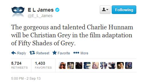 E.L. James tweet