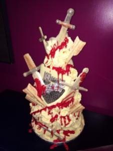 choccywoccydoodah red wedding cake