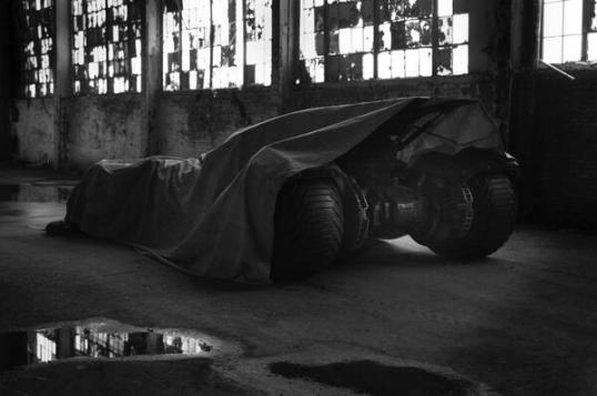 Batman v Superman Batmobile first look