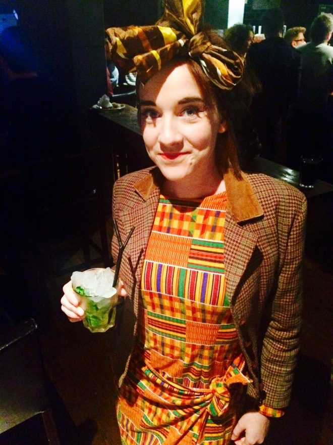 Natasha and her King Slayer cocktail
