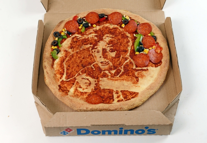 Domino's Pizza has commissioned celebrity portrait artist Nathan Wyburn to recreate iconic images of some of the best films over the past 30 years, in order to celebrate the 30th anniversary of Domino's Pizza.